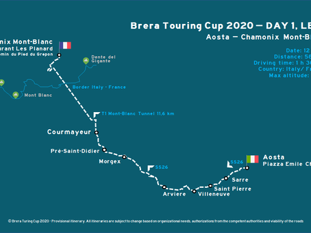 Brera Touring Cup 2020 - The Itinerary Day 1 Leg 1