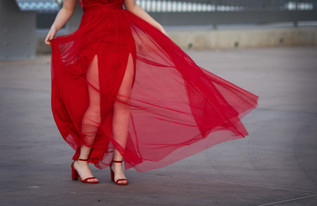 Phoenix arizona senior portrait photographer urban red dress tempe downtown.jpg