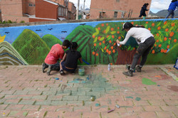 Jovenes avivando Usme Pueblo