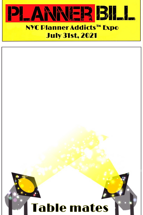 "Table Mates Postcard, Planner Bill Themed 4""x6"""