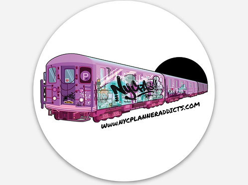 "3""x3"" Train Logo Die Cut Sticker"