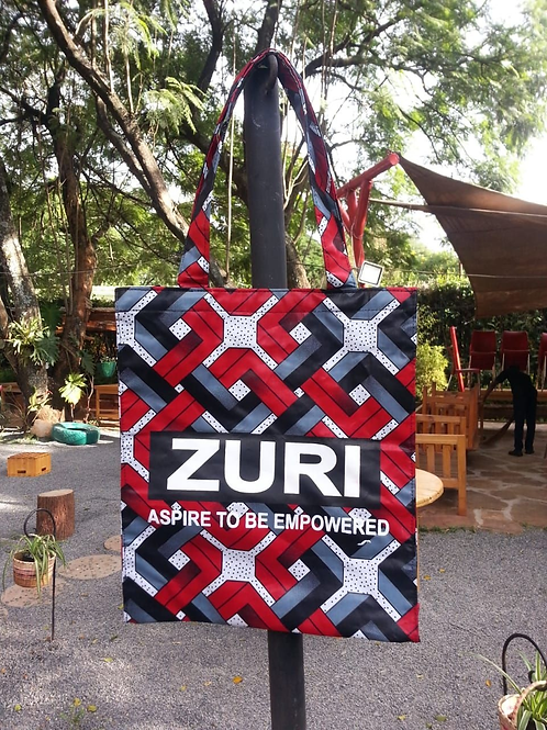 Zuri Shopping Bag-Horizontal with Logo
