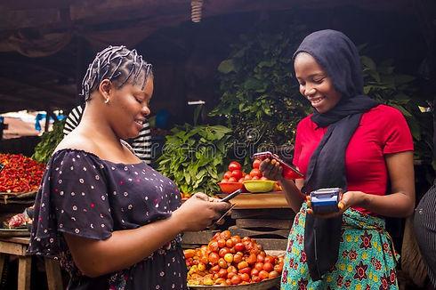 african-women-shopping-food-stuff-local-