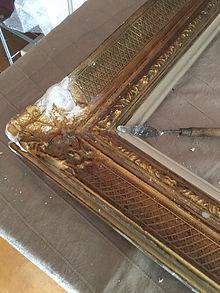 restauración de marco de cuadro