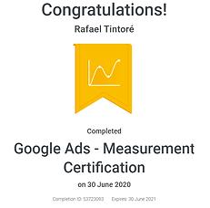 certificado oficial de google ads measurement