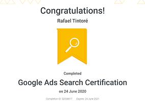 certificado oficial de search google ads