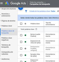estrategia concordancia google ads