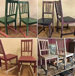 sillas de madera restauradas