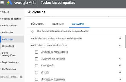 audiencias con intencion de compra google ads
