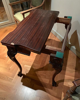restaración de mesa de madera