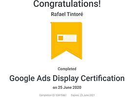 certificado oficial de display google ads