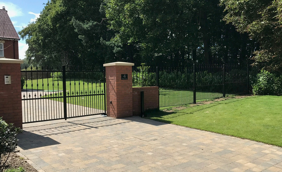 Entrance Gates with Railings - View more on Instagram