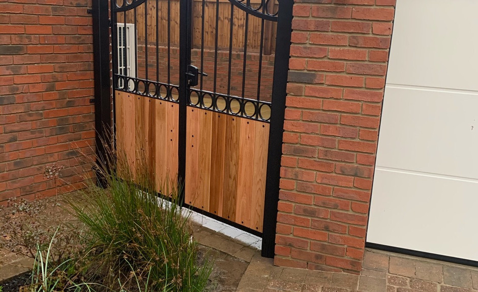 Side Gate with Wooden Inserts - View more on Instagram