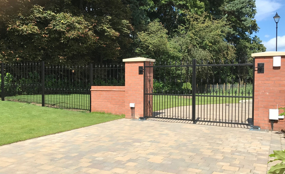 Estate Gates with Railings - View more on Instagram