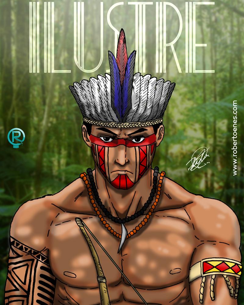 Indígena Épico Ilustração