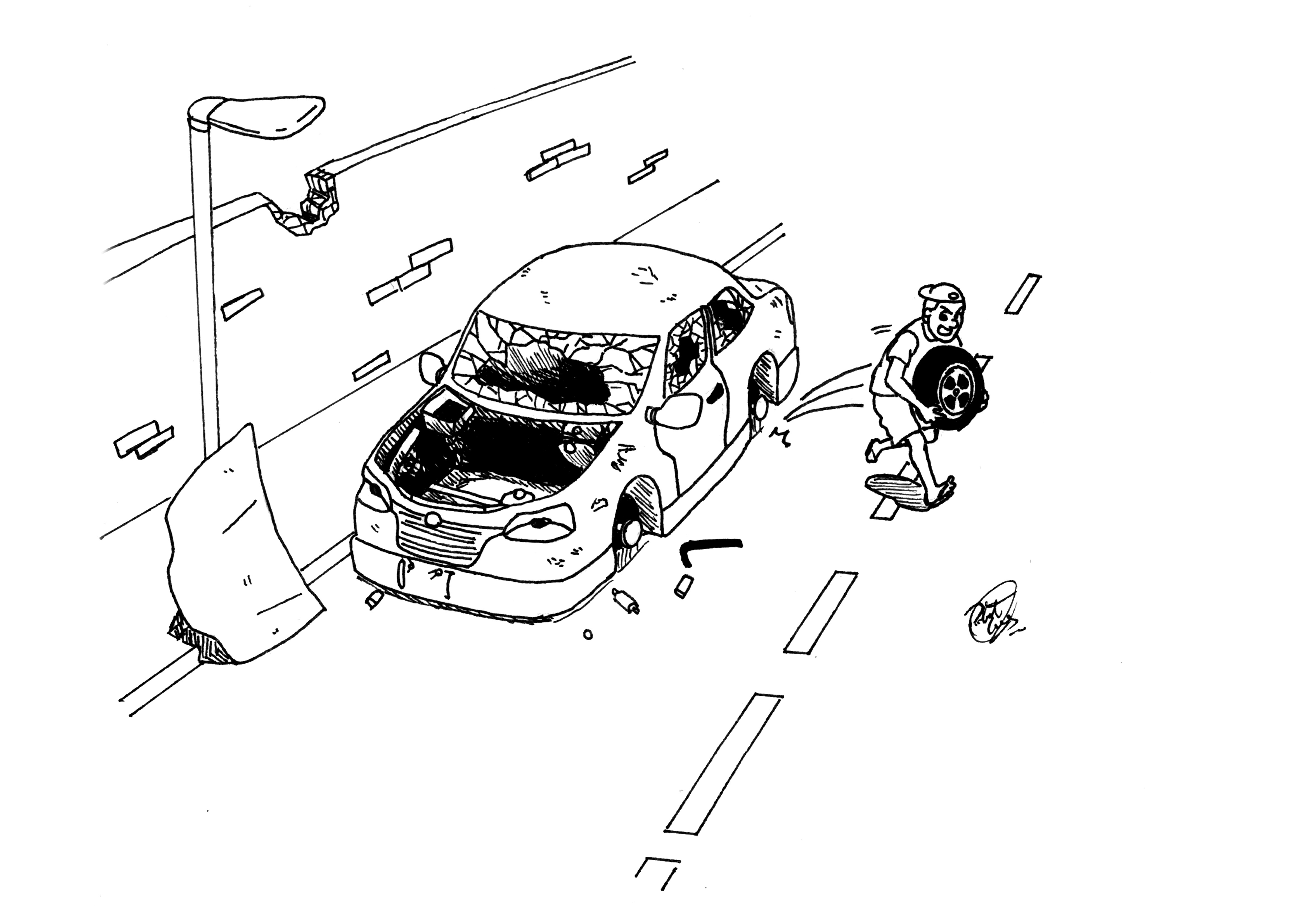 Ilustração_Carro_sucateado