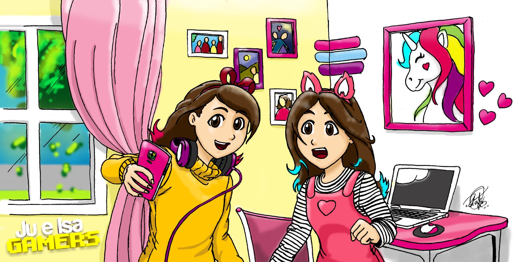 Ilustração - Ju e Isa Gamers