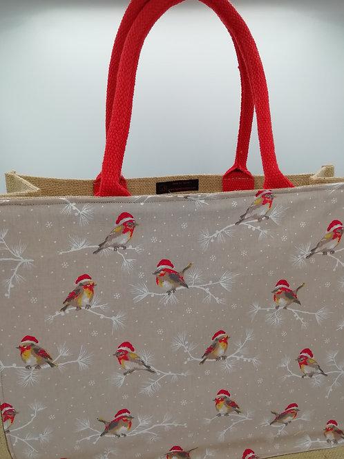 Cabas gd modèle oiseaux de Noël