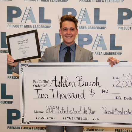 Ashton Burch 2019 PAL Youth Leader of th