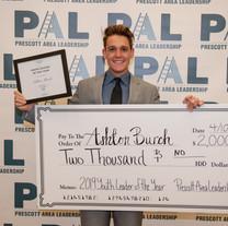 Ashton Burch 2019 PAL Youth Leader of th