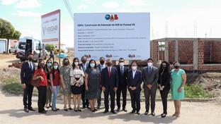 Comitiva da OAB-PB inspeciona obras da construção da sede própria da Subseção Pombal