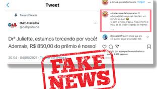 OAB-PB vai lançar site para combater fake news contra a Instituição