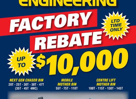Finch Factory Rebate Offer!