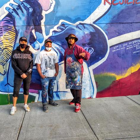 Bronzeville Resillent BLM mural 2002 (Damon Reed x Pugs Atomz x T Zeye