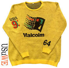 Windows 64 hand knitted sweater