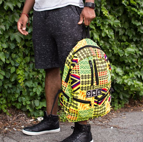 "Onli Packs bookbag  ""A tribe called"""