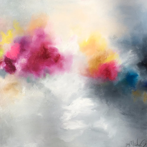 """Clouds & Arrows"" 20x20"