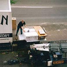 Verhuislift in gebruik  Verhuisbedrijf Amsterdam