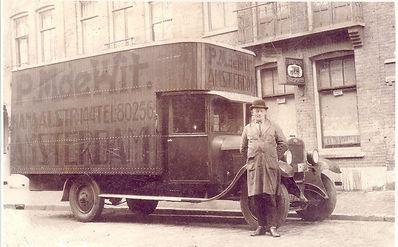Verhuisbedrijf de P.M de Wit & Zn Amsterdam geschiedenis