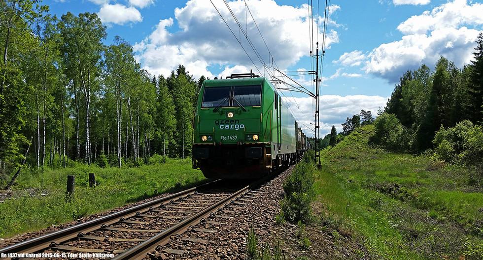 Green Cargo i grönt Knäred. Foto: Stoffe Källström.