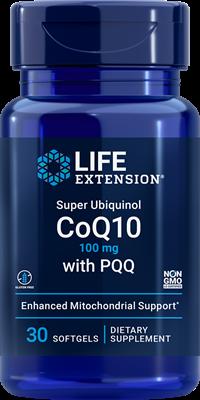 Life Extension Super Ubiquinol CoQ10 100mg W/PQQ