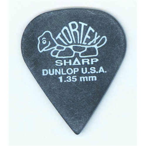 Dunlop 412P Tortex Sharp Black 1.35