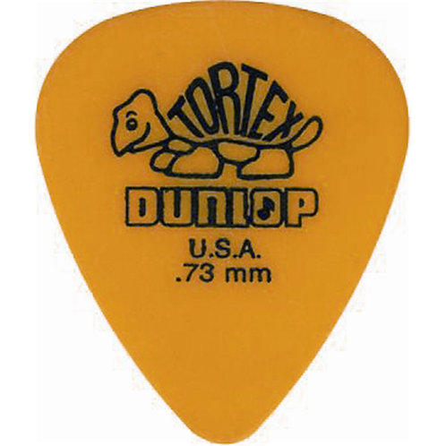 Dunlop 418P Tortex Standard Yellow .73