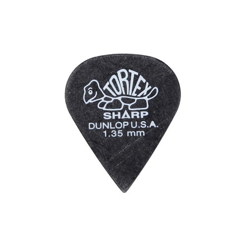 Dunlop 412R1.35 Tortex Sharp Black 1.35mm Bag/72
