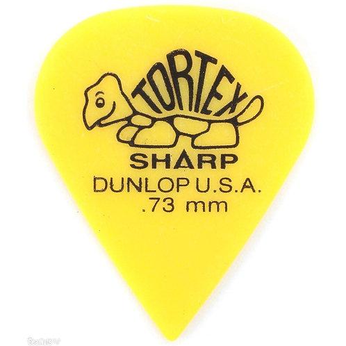 Dunlop 412R.73 Tortex Sharp Yellow .73mm Bag/72