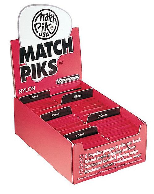 Dunlop 448R1.0 Match Piks Nylon Black 1.00mm