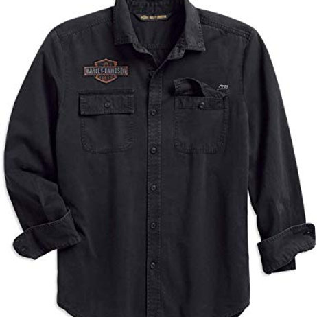 Chemise Grungy Logo Patch