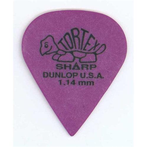 Dunlop 412R1.14 Tortex Sharp Purple 1.14mm Bag/72