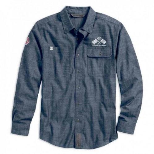 Chemise en jean avec l'emblématique #1