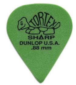 Dunlop 412P Tortex Sharp Green .88