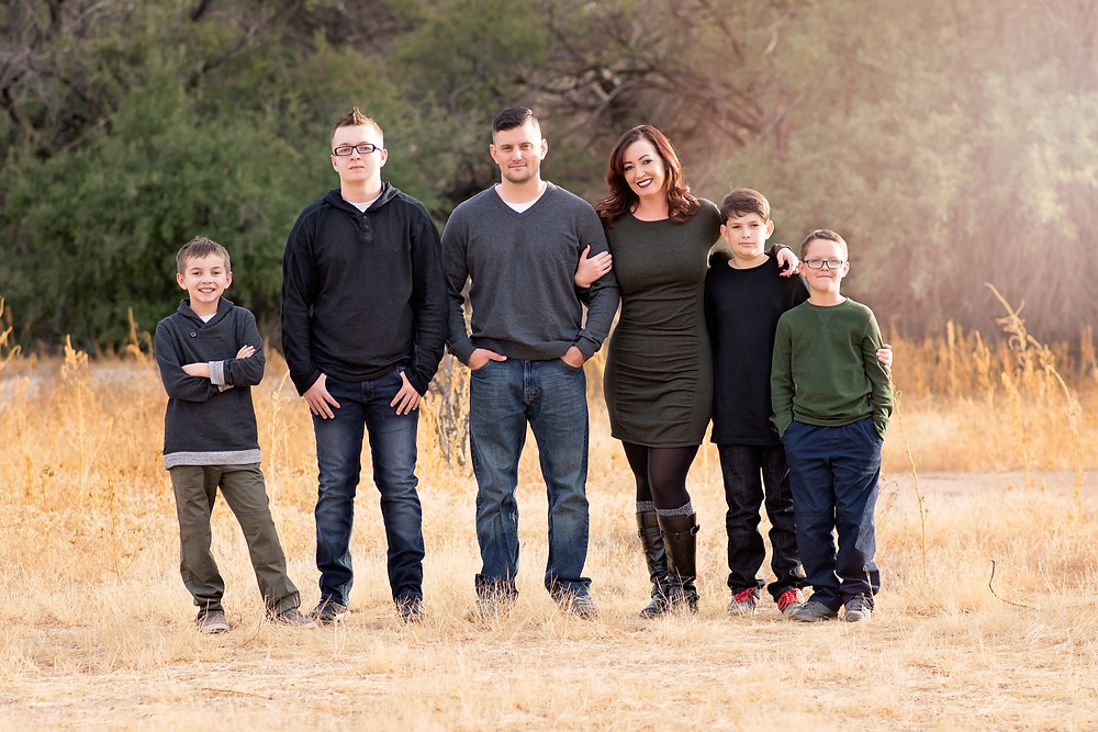 family photo session in Vail AZ