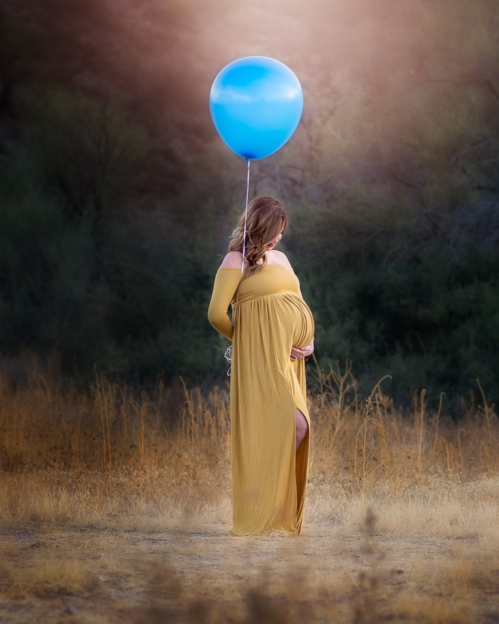 little boy maternity photo
