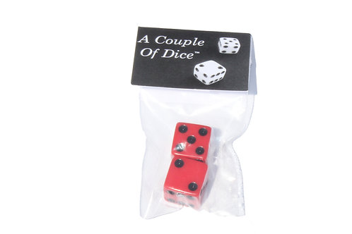 A Couple Of Dice - Red With Black Pips