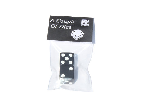 A Couple Of Dice - Black With White Pips