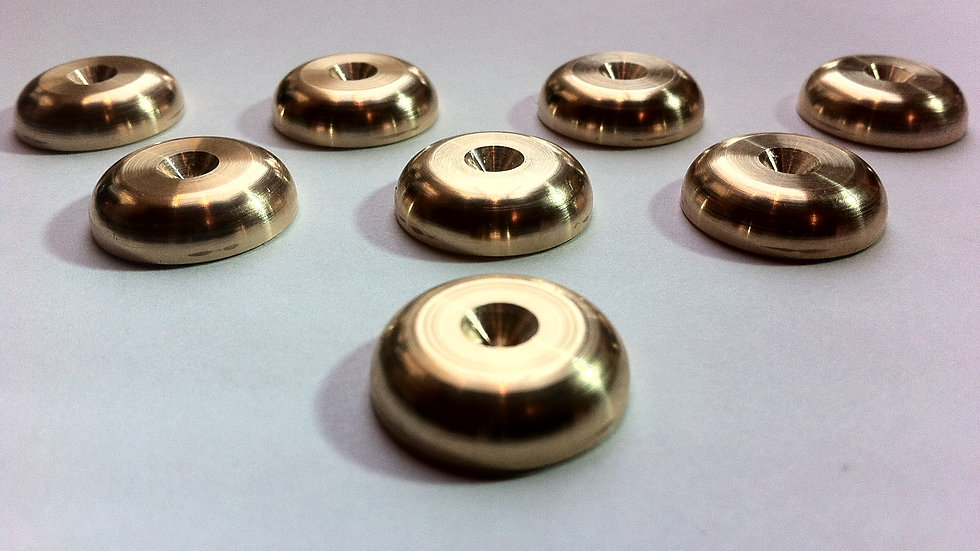 8 x Solid Spikes Rad Speaker Spike Shoes in Brass for speakers & stands
