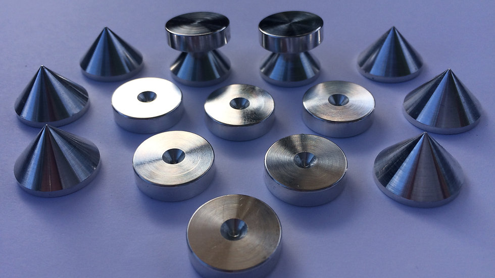 Pyramid Speaker Spikes for HIFI Speakers. No fastening required